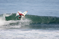 BEN DUNN (AUS)   MUNDAKA, Euskadi (Monday, October 5, 2009) - The Billabong Pro Mundaka, Event No. 8 of 10 on the 2009 ASP World Tour, completed the opening eight heats of Round 1 today in clean three-to-four foot (1 metre) waves at the primary venue...Opting to run the man-on-man elimination Round 1 format, the Billabong Pro Mundaka played witness to some incredible drama today, with surfers fighting for both requalification and solid footing on the ASP World Tour ratings...Kekoa Bacalso (HAW), 24, former ASP World Junior Champion (2005) and 2009 ASP Dream Tour rookie, was the standout on Day 1 of competition, netting the high heat total of a 15.80 out of a possible 20 for a barrage of backhand turns, eliminating wildcard Hodei Collazo (EUK)....The $340,000 USD Billabong Pro Mundaka is the 8th of 10 events on the ASP World Tour (Association of Surfing Professionals), considered as the first league of surfing. The Billabong Pro Mundaka will officially start on October 5th, with the inaugural ceremony, and will run whenever conditions allow until October 17th at the latest...Being held at Europe's best left-hand wave in the fishing village of Mundaka. Mundaka is renowned worldwide for its long and hollow waves barrelling over 200 meters in the mouth of the Guernika river. As last year, the alternate site will be set up on the beach of Sopelana. The site is only a few car-minutes away from the center of Bilbao. The decision to surf either at Mundaka or Sopelana will be taken on a daily basis by the contest director, after assessing the conditions in both sites with the surfers and the ASP officials.  Photo: joliphotos.com