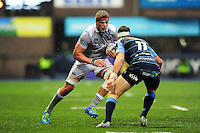 Tom Ellis of Bath Rugby in possession. European Rugby Challenge Cup match, between Cardiff Blues and Bath Rugby on December 10, 2016 at the Cardiff Arms Park in Cardiff, Wales. Photo by: Patrick Khachfe / Onside Images