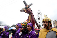 BOGOTA -COLOMBIA , 14- ABRIL-2017.Thousands of Catholics in Bogota celebrated Good Friday in the streets of the capital.. Photo: VizzorImage / Felipe Caicedo / Staff
