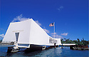 USS Arizona Memorial at Pearl Harbor; Honolulu, Oahu, Hawaii.