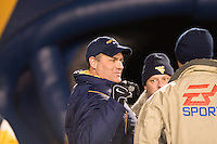 08 November 2007: Rich Rodriguez..The West Virginia Mountaineers defeated the Louisville Cardinals 38-31 on November 08, 2007 at Mountaineer Field, Morgantown, West Virginia. Rodriguez is all smiles before the game.