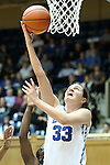 06 December 2012: Duke's Haley Peters. The Duke University Blue Devils played the Georgia Tech University Yellow Jackets at Cameron Indoor Stadium in Durham, North Carolina in an NCAA Division I Women's Basketball game. Duke won the game 85-52.