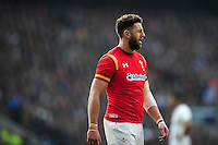Alex Cuthbert of Wales looks on during a break in play. RBS Six Nations match between England and Wales on March 12, 2016 at Twickenham Stadium in London, England. Photo by: Patrick Khachfe / Onside Images