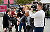 Labour Party Conference <br /> at Manchester Central, Manchester, Great Britain <br /> 23rd September 2014 <br /> <br /> <br /> BBC's Paul Lambert interviewing Maria Eagle MP <br /> Shadow Secretary of State for Environment, Food &amp; Rural Affairs<br /> <br /> <br /> Photograph by Elliott Franks <br /> Image licensed to Elliott Franks Photography Services