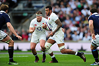 Courtney Lawes of England in possession. RBS Six Nations match between England and Scotland on March 11, 2017 at Twickenham Stadium in London, England. Photo by: Patrick Khachfe / Onside Images