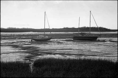 Boats, Alresford Creek by Paul Cooklin