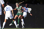 31 August 2014: UAB's Amy Brewer (26) and Duke's Toni Payne (10). The Duke University Blue Devils hosted the University of Alabama Birmingham Blazers at Koskinen Stadium in Durham, North Carolina in a 2014 NCAA Division I Women's Soccer match. Duke won the game 3-1.