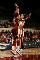 19 March 2007: Brooke Smith during Stanford's 68-61 second round loss to Florida State in the NCAA women's basketball tournament at Maples Pavilion in Stanford, CA.