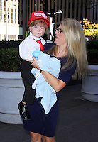 NEW YORK, NY-October 12:Mini-Trump Hunter Tirpak and Jessica Tirpak  at Mini-Trump Hunter Tirpak at Fox & Friends  in New York.October 12, 2016. Credit:RW/MediaPunch