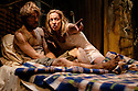 Two Shed Theatre's AFRICAN GOTHIC, by Reza de Wet, directed by Roger Mortimer and Deborah Edgington, opens at Park Theatre. Picture shows: Oliver Gomm (Frikkie), Janna Fox (Sussie)