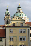 St Nicholas Church in Lesser Town in Prague, Czech Republic.