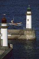Europe/France/Bretagne/56/Morbihan/Belle-île/Le Palais: Le port, les phares et bateau de pêche
