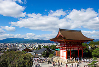 The Kiyomizu-dera temple oversees the town of Kyoto, Japan, on October 6, 2010. Photo by Lucas Schifres/Pictobank