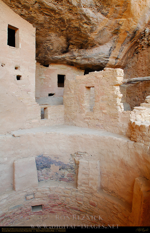 Right (South) Kiva, Vent and Pilasters, Room Detail, Spruce Tree House Cliff Dwelling, Anasazi Hisatsinom Ancestral Pueblo Site, Chapin Mesa, Mesa Verde National Park, Colorado