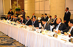 Egypt's President Abdel Fattah al-Sisi meet with Businessmen Singaporeans in Singapore on August 31, 2015. President Abdel Fattah al-Sisi is on a three-day state visit at the invitation of President Tony Tan Keng Yam. Photo by Egyptian President Office