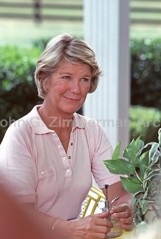 "Barbara Bel Geddes as Ellie Ewing on ""Dallas"" Set, South Fork Ranch, Texas, 1980."
