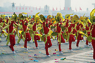 Beijing, China. October 1st, 1984. This huge parade is for the celebration of the 35th Anniversary of the Chinesse Revolution. Large representation of the youth. Demostration of unity, progress and overall discipline.