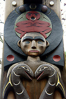 Musqueam house post detail, Museum of Anthropology (MOA), Vancouver, BC, Canada