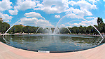 Fountain in Sculpture Garden, National Gallery of Art, National Mall, Washington DC