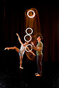 London, UK. 15.09.2014. Gandini Juggling, 4 x 4 Ephemeral Architecture, Creation Studio, NCCA (Circus Space), Hoxton. Directed and devised by Sean Gandini, choreographed by Ludovic Ondiviela. Picture shows: Sakari Mannisto (juggler) and Kieran Stoneley (dancer). Photograph © Jane Hobson.