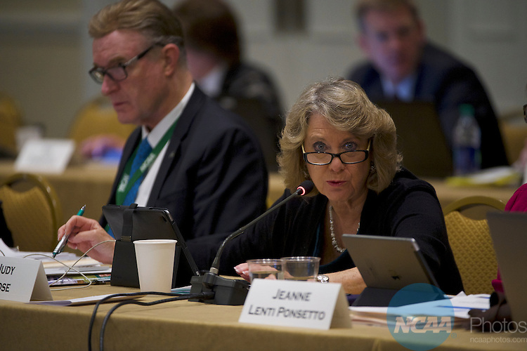 18 JAN 2017: The Division I Council meeting takes place during the 2017 NCAA Convention at the Gaylord Opryland Resort and Convention Center in Nashville, TN.  Jamie Schwaberow/NCAA Photos  (Pictured:  Judy Rose)