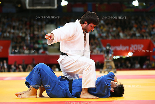 (L to R) Mansur Isaev (RUS), Riki Nakaya (JPN), .JULY 30, 2012 - Judo : .Men's -73kg Final .at ExCeL .during the London 2012 Olympic Games in London, UK. .(Photo by Daiju Kitamura/AFLO SPORT) [1045].