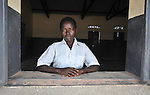 A student in the Southern Sudanese village of Jombo poses in the window of a classroom in a new school constructed by the United Methodist Committee on Relief (UMCOR). Families here are rebuilding their lives after returning from refuge in Uganda.