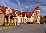 The winery at Horton Vineyards is attractively styled as an old country mansion.