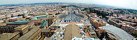 Italy, Rome. Panorama of Rome from the top of Saint Peter's Basilica.