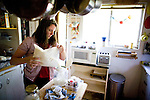 Sharon Ferrell prepares dinner at her home in Lincoln, CA May 13, 2009.