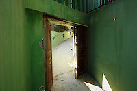 Tripoli, Libya, August 26, 2011.Khaddafi personal quarters in the Bab Aziziya  compound: private entrance..