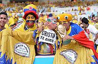 FUSSBALL WM 2014                ACHTELFINALE Kolumbien - Uruguay                  28.06.2014 Fans aus Kolumbien