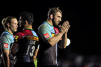 Chris Robshaw of Harlequins acknowledges the crowd after the match. Aviva Premiership match, between Harlequins and Sale Sharks on November 6, 2015 at the Twickenham Stoop in London, England. Photo by: Patrick Khachfe / Onside Images