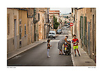 Street scene, Petra, Mallorca, Spain by Larry Angier.