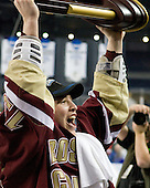 Cam Atkinson (BC - 13) - The Boston College Eagles defeated the University of Wisconsin Badgers 5-0 to win the NCAA Division 1 national championship at the 2010 Frozen Four on Saturday, April 10, 2010, at Ford Field in Detroit, Michigan.