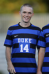 14 September 2012: Duke's Ryan Thompson. The Duke University Blue Devils defeated the Clemson University Tigers 2-0 at Koskinen Stadium in Durham, North Carolina in a 2012 NCAA Division I Men's Soccer game.