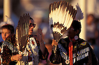 Native Americans, Women dancers, (Lakota - Sioux ), Rosebud Fair Pow Wow,  Rosebud Indian reservation, South Dakota, USA