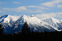 Kootenay Rockies, British Columbia in spring time