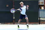 13 May 2016: Michigan's Davis Crocker. The University of Michigan Wolverines played the East Tennessee State University Buccaneers at the Wake Forest Tennis Center in Winston-Salem, North Carolina in a 2015-16 NCAA Division I Men's Tennis Tournament First Round match. Michigan won the match 4-3.