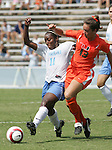 24 September 2006: UNC's Robyn Gayle (11) and Miami's Bryn Heinicke (13). The University of North Carolina Tarheels defeated the University of Miami Hurricanes 6-1 at Fetzer Field in Chapel Hill, North Carolina in an NCAA Division I women's soccer game.