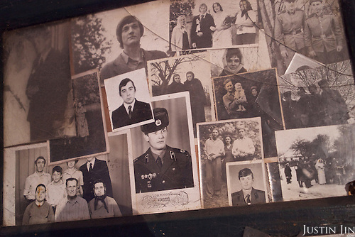 Old pictures belonging to Maria, 78, a resettler at the radioactive exclusion zone at Chernobyl. <br /> <br /> 30 years on, the plant is still heavily contaminated, unfit for human life, but some villages defy government orders and returned to live inside the exclusion zone. <br /> <br /> The Chernobyl nuclear disaster happened on 26 April 1986.