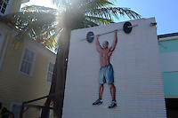 eine Gym Werbung in Key West..Florida 2009..Foto © Stefan Falke.