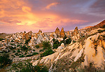 "Peri Bacalari or ""Fairy Chimneys"" rock formations, Cappadocia, Turkey"