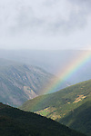 A rainbow in Norway's mountainous Jotunheimen National Park.