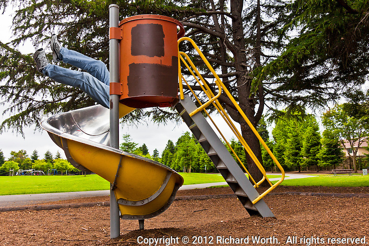 You're never too big to play on the slide.  Just takes having the right software.