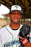 24 June 2008: Vermont Lake Monsters pitcher Carlos Peralta. Baseball Card Image for 2008. For in-house use by the Vermont Lake Monsters Only. Editorial or other use of images by other publications or media outlets must secure licensing from the photographer Ed Wolfstein prior to publication, and is based on standards of circulation, and placement in a given publication...Mandatory Credit: Ed Wolfstein.
