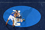 BIRMINGHAM, AL - MARCH 11:   Ivan McClay of Notre Dame College defeats Willie Bohince of Mercyhurst in the 125 lb weight class during the Division II Men's Wrestling Championship held at the Birmingham CrossPlex on March 11, 2017 in Birmingham, Alabama. (Photo by Jamie Schwaberow/NCAA Photos via Getty Images)