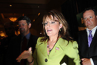 ATLANTA, GA - August 9, 2010: Sarah Palin greets supporters after endorsing Karen Handel in the Georgia Republican Gubernatorial Runoff for governor at the Buckhead InterContinental Hotel.