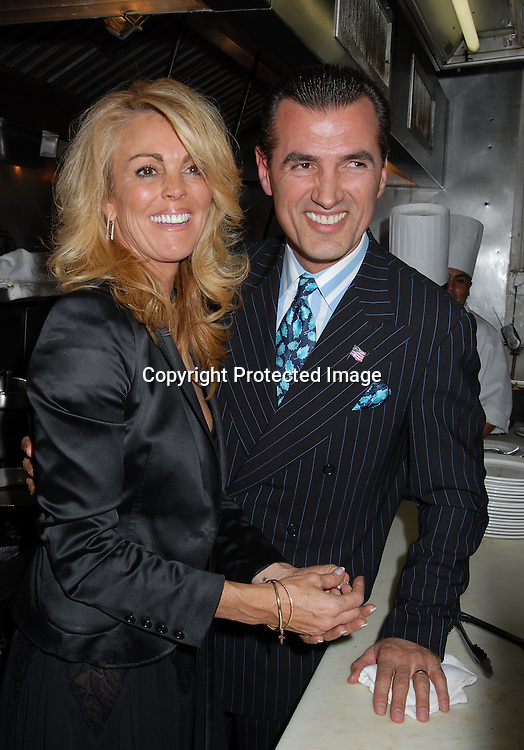 "Dina Lohan and Nino's owner Nino Selimaj..at Nino's Tuscany Restaurant party for Dina Lohan..and her cover of new magazine called ""Boulevard"" on ..October 9, 2006. ..Robin Platzer, Twin Images"