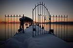 Snow coves a pier on Lake Tahoe in Tahoe Pines, Calif., January 6, 2011. California has already received 80% of its normal annual precipitation in the first two months of a rainy season that lasts another four months..CREDIT: Max Whittaker for The Wall Street Journal.CALWATER